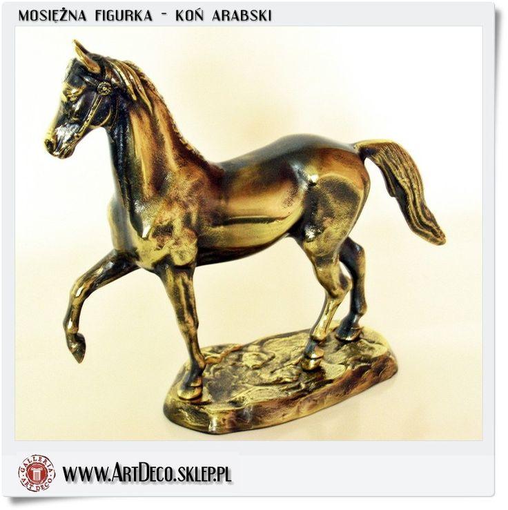 Figurka konia arabskiego Mosiężny produkt polskiego rzemiosła Handmade