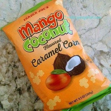 Trader Joe's Mango Coconut Caramel Corn 9.5oz $2.99 トレーダジョーズ マンゴーココナッツキャラメルコーン  #traderjoes #mango #coconut #caramel #corn