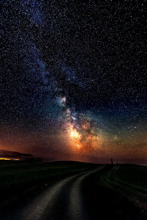 Milky Way over Tuscany..;.By Artist Luca Libralato ...