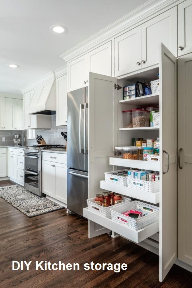 10 Diy Great Kitchen Storage Anyone Can Do 3 In 2020 Kitchen