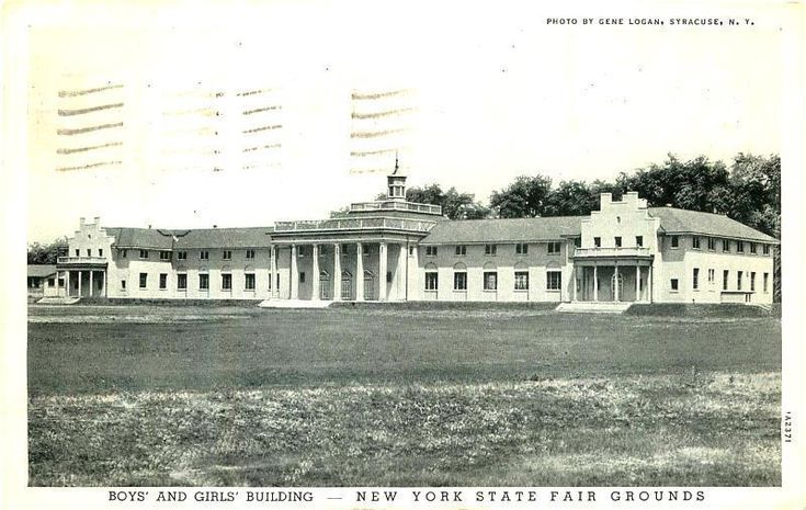SYRACUSE NY BOYS & GIRLS BUILDING STATE FAIR GROUNDS VINTAGE PHOTO POSTCARD