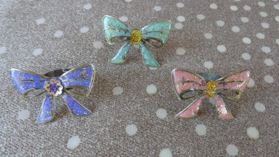 Cute bow rings 2. Colored bow rings liquid by ArtisticBreaths