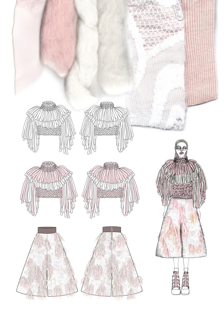 Fashion Sketchbook - fashion illustrations & textile samples; fashion portfolio // Giryung Kim