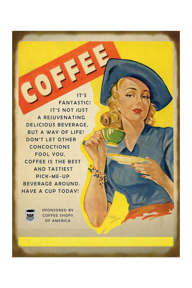 Blonde Holding Coffee Cup Sign on HauteLook