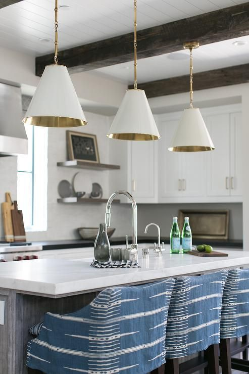 Brooke Wagner Design | featuring Goodman Hanging Lights by Thomas O'Brien