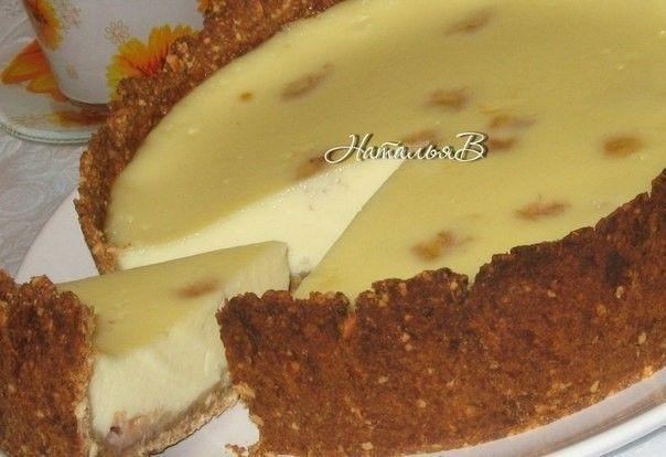 Сливочно-банановый пирог