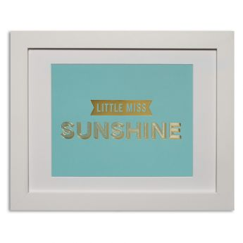 Little miss sunshine - duck egg blue Papier d'Amour foiled prints range http://www.papierdamour.com.au/shop-by-category/foiled-prints.html