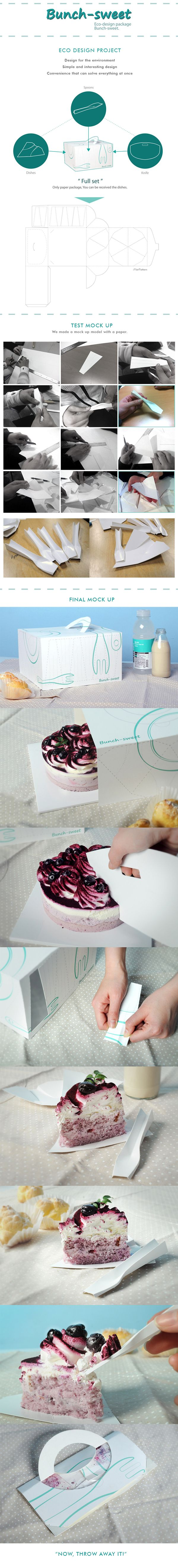 Bunch-Sweet, All In One Cake Package. by JK-shay Ryu, KyungNa Min, SeHwa Shin, via Behance