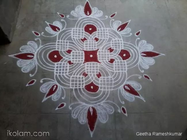 Rangoli Tuesday Treat Freehand Rangoli | www.iKolam.com