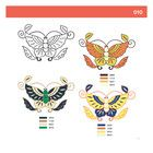 DoverPictura - Chinese Butterfly Clip Art for Machine Embroidery