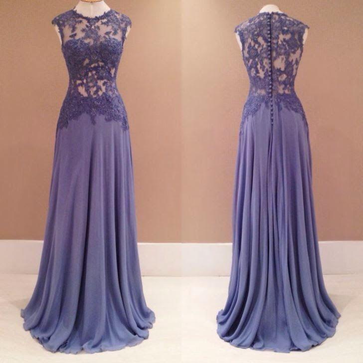 vestido de festa com aplicação de renda
