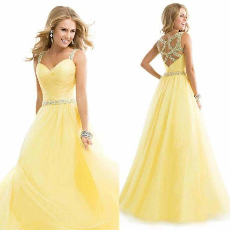 95 best Gold/Yellow Dresses (Long) images on Pinterest | Party wear ...