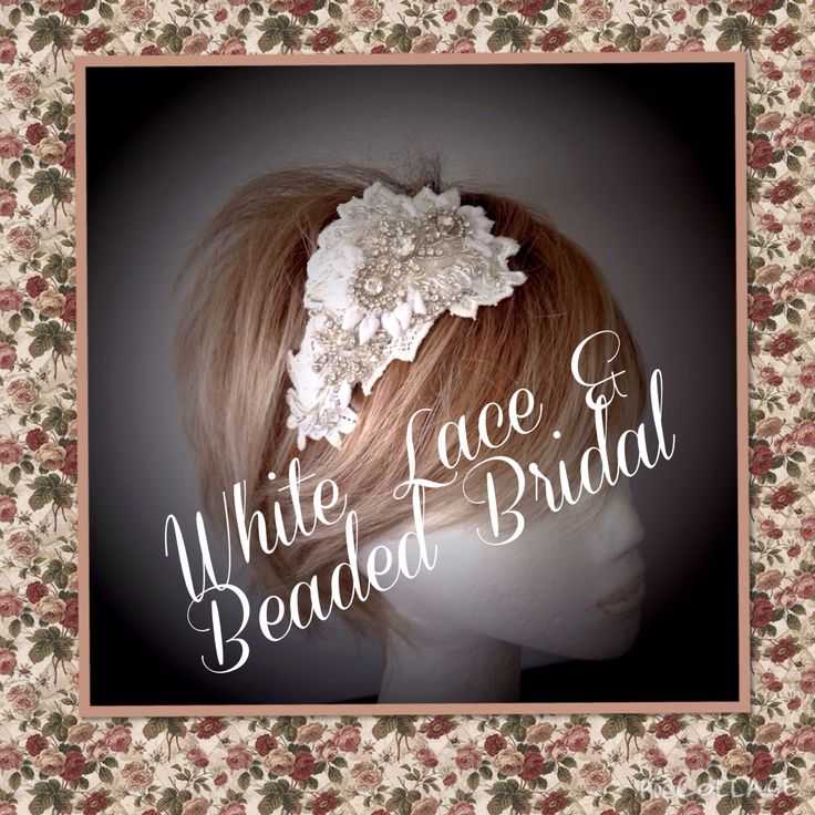 Small bridal piece wear with a full veil or on it's own