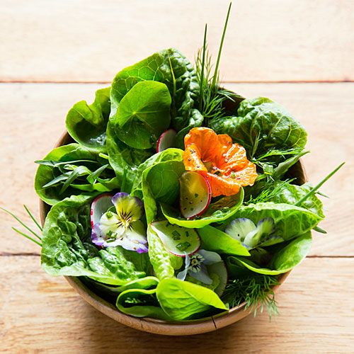 You can make a beautiful bouqet and eat it, too! Watch Sunset magazine's Elaine Johnson show you how to make an edible bouquet, using edible flowers and large lettuces.