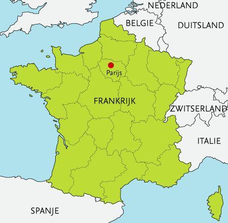 Parijs is de hoofdstad van Frankrijk, met ongeveer 2,8 miljoen inwoners. Het licht in het noorden van Frankrijk, aan de rivier de Seine. Het historische centrum is geboud op 2 eilanden.