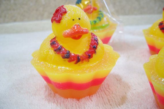 Children's Soap Aloha Ducky Cupcake Soap Christmas by DaisyKays