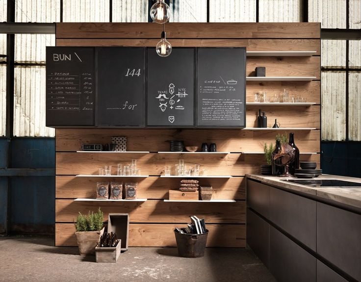 Kitchen with peninsula without handles FACTORY   Kitchen with peninsula - Aster Cucine