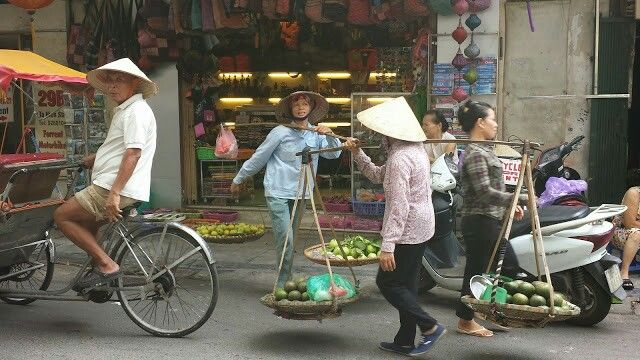 Street life Hanoi.