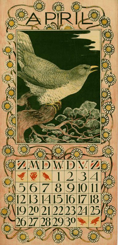 Theodoor van Hoytema, calendar 1903 April