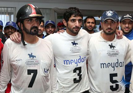 2012 UAE President His Highness Sheikh Khalifa bin Zayed Al Nahyan congratulated UAE Vice President, Prime Minister and Ruler of Dubai His Highness Sheikh Mohammed bin Rashid Al Maktoum on the shining victory of the 2012 FEI World Endurance Championship title in the individual and team categories