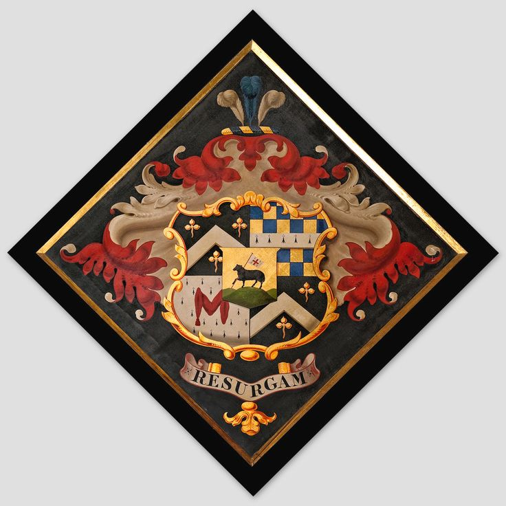 Hatchment in the Church of St. John, at Hoveton, Norfolk, England