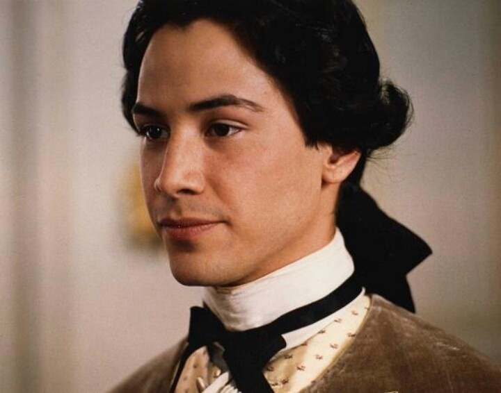 A very youn Keanu Reeves as Chevalier Danceny (Dangerous Liasons)