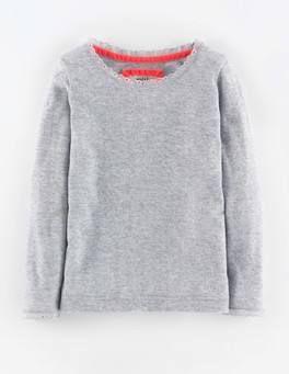 Super Soft Pointelle T-shirt (Grey Marl)