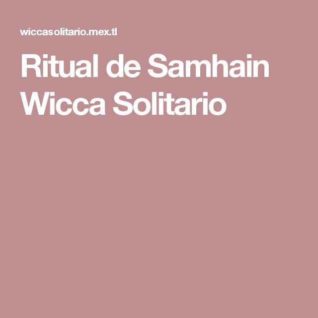 Ritual de Samhain Wicca Solitario