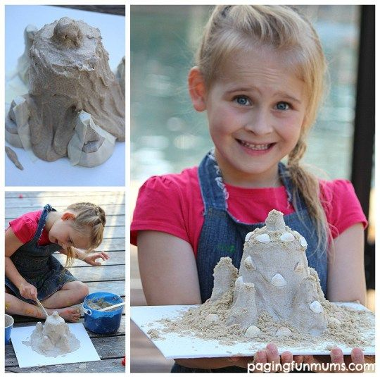 Making a Sandcastle Keepsake