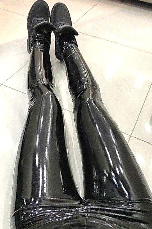 Slim High Waist Liquid Leggings In 2020 Pants For Women Leather Skinny Jeans Leggings Are Not Pants