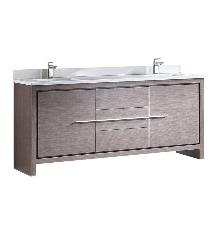 Fresca Fcb8172go Cwh U Allier 72 Gray Oak Modern Double Sink