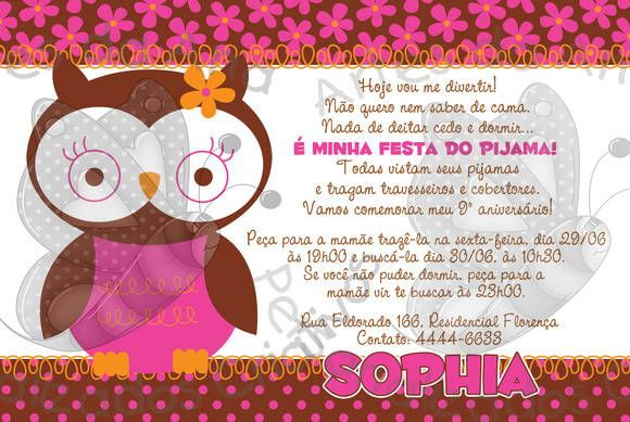 Festa do Pijama   Artes da Ana Personalizados Criativos   Elo7