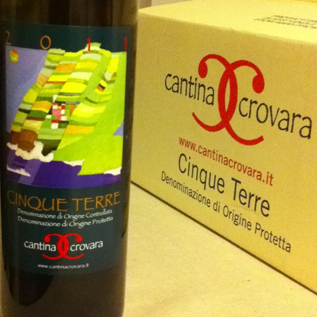 Locally produced wine from Cantina Crovara