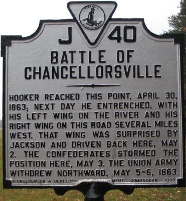 Battle of Chancellorsville   Battle of Chancellorsville Marker Photo, Click for full size