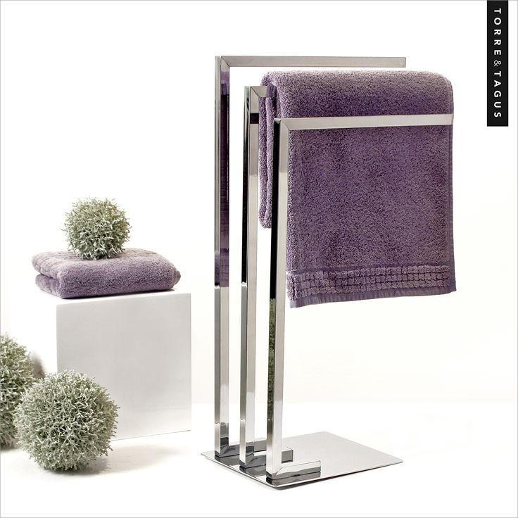 Towels, throws and scarves will thank you for hanging them in style with our Metro Chrome 3 Tier Towel Stand. Great for storage or using as a drying stand. #TorreAndTagus #OrganizeYourHome #TowelStand #HomeDecor www.torretagus.com