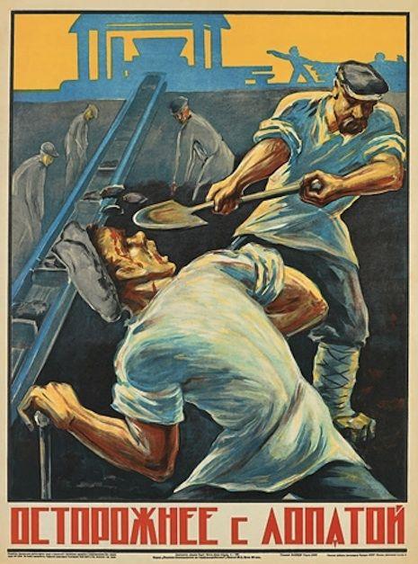 Cartaz preventivo: acidente de trabalho