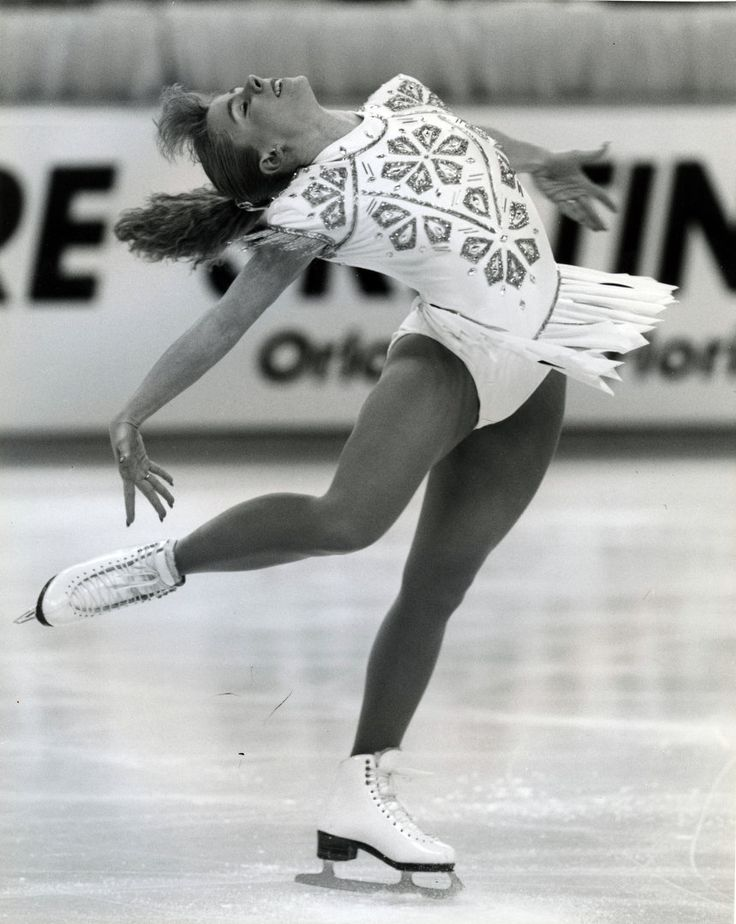 Tonya Harding during the 1992 Winter Olympics