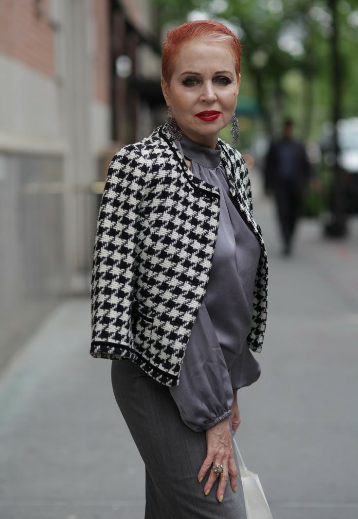 Houndstooth and Red Lipstick