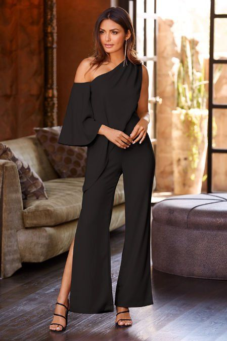 1f5359e0701f One Shoulder Drape Jumpsuit