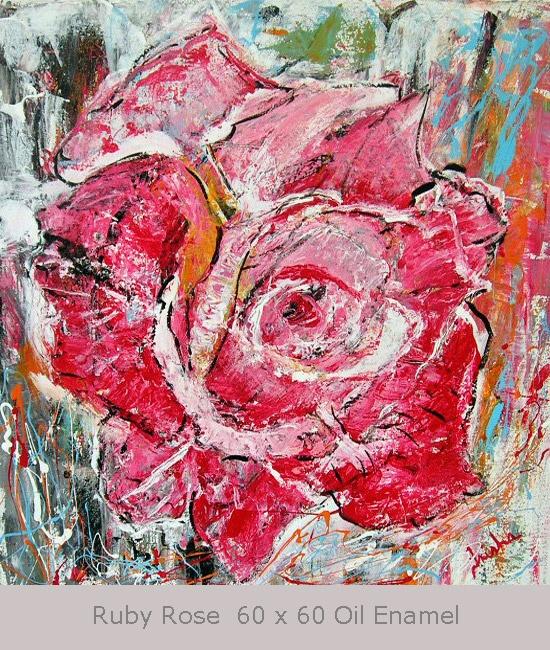 Ruby Rose 60 X 60 cm Oil Enamel