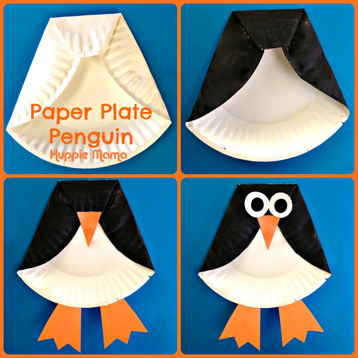 Paper plate penguin. How cute is that!