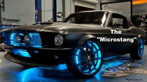 Microstang, a Mustang with numerous cool gadgets. Made by West Coast Customs and Microsoft.