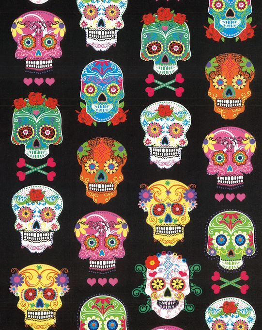 Hmmmm...curtains for the spare room...Tanners area!!!  Novelty Cotton Fabric- Patterned Skulls at Joann.com