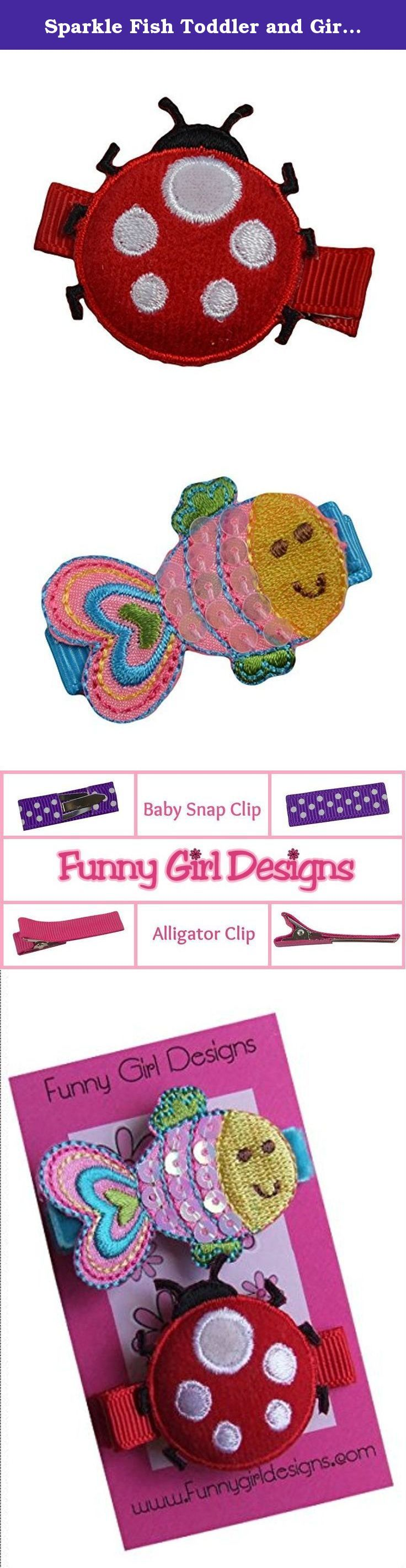 Sparkle Fish Toddler and Girls Hair Clip Set. Sparkle Fish Toddler and Girls Hair Clip Set.