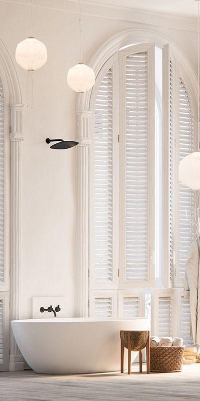 Piet Boon rainshower set http://bycocoon.com | Piet Boon® by COCOON design bathroomtaps | inox stainless steel in Gunmetal Black finishing | COCOON freestanding bathtub | modern bathroom design | Dutch Designer Brand COCOON