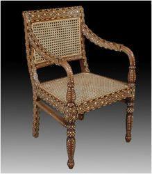 Anglo+Indian++Bone+Antique+Inlay+Chair