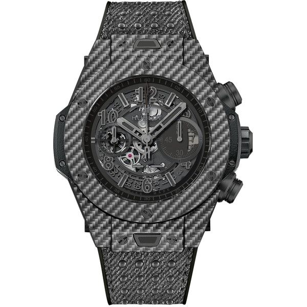 Hublot Big Bang UNICO 45mm 411.YT.1110.NR.ITI15 Watch (26,985 CAD) ❤ liked on Polyvore featuring men's fashion, men's jewelry, men's watches, carbon fiber, hublot mens watches and mens grey watches