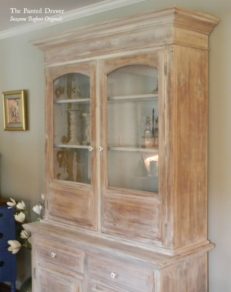 Whitewashed Farmhouse Cabinet   Would Love This Type Of White Wash For  Kitchen Cabinets.