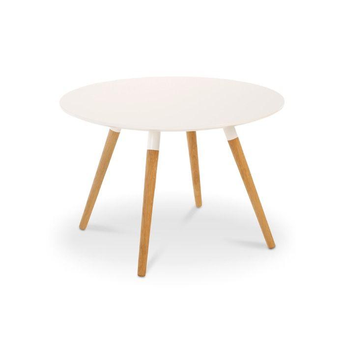 Tenzo Beistelltisch Lola Weiss Holz In 2020 Beistelltisch Tisch Holz