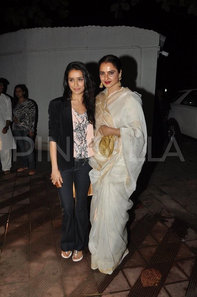 Shraddha Kapoor, Rekha attend Sanjay Leela Bhansali's party | PINKVILLA